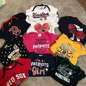 Boston baby sports fan tops